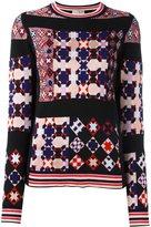 Emilio Pucci mosaic pattern pullover - women - Acrylic/Polyamide/Viscose/Merino - XS