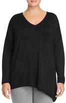 NYDJ Plus Asymmetric Shimmer Sweater