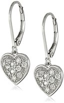 "Swarovski Myia Passiello ""Hearts Cubic Zirconia Pave Heart Drop Earrings"