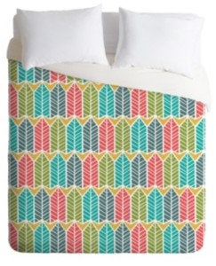 Deny Designs Heather Dutton Arboretum Leafy Multi Twin Duvet Set Bedding