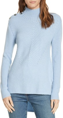 Veronica Beard Rama Merino Wool & Cashmere High/Low Sweater
