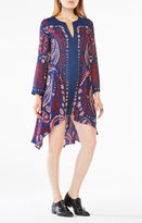 BCBGMAXAZRIA Geena Paisley Print-Blocked Dress