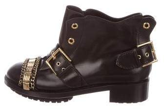 Alexander McQueen Louisiana Leather Ankle Boots