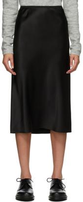 Joseph Black Silk Isaak Skirt