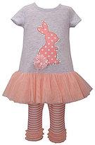 Bonnie Jean Bonnie Baby Baby Girls Newborn-24 Months Easter Bunny-Appliqued Tutu Dress & Striped Leggings Set