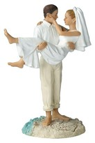 Lillian Rose Caucasian Couple Beach Wedding Cake Topper