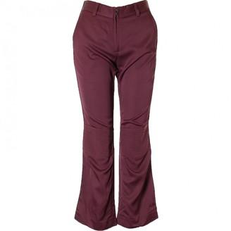 3.1 Phillip Lim Burgundy Viscose Trousers