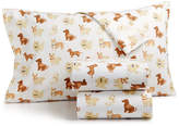 Martha Stewart Collection Show Dogs 100% Cotton 3-Pc. Flannel Twin Sheet Set, Created for Macy's