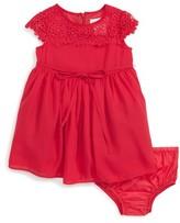 Us Angels Infant Girl's Lace Yoke Chiffon Dress