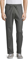 Billy Reid Stanton Wool-Blend Drawstring Pants, Sage