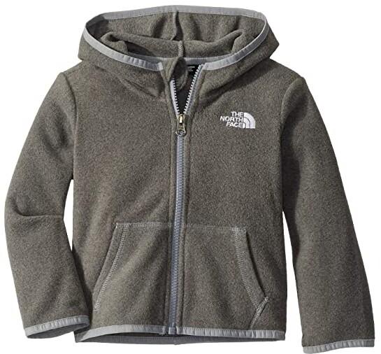The North Face Kids Glacier Full Zip Hoodie (Toddler) (TNF Medium Grey Heather) Kid's Sweatshirt