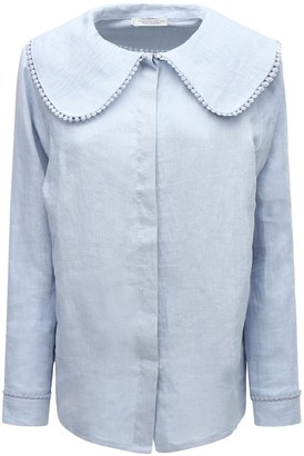 Underprotection Caroline Organic Linen Pajama Shirt