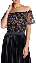 Lucy Paris Evelyn Off-the-Shoulder Embroidered Top