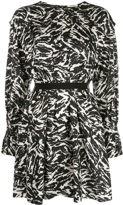 Jason Wu Zebra-Print Mini Dress