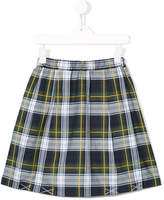 Familiar pleated tartan skirt