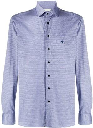 Etro Long-Sleeved Embroidered Logo Shirt