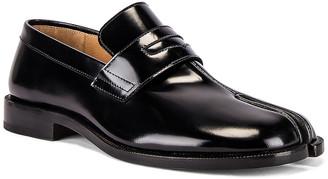 Maison Margiela Tabi Advocate Loafer in Black   FWRD