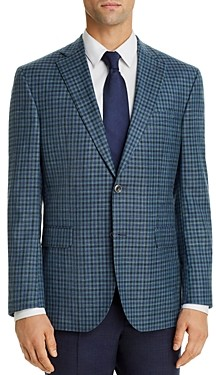 Jack Victor Check Regular Fit Sport Coat