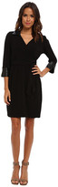 Andrew Marc 3/4 Sleeve Tie Waist Wrap Sheath Dress MD4A8854