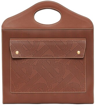 Burberry Leather TB Monogram Pocket Bag