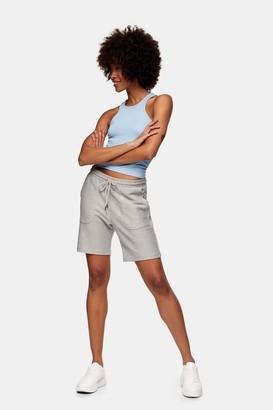 Topman Womens Grey Twill Jersey Shorts - Grey