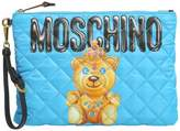 Moschino Quilted Teddy Bear Print Pouch