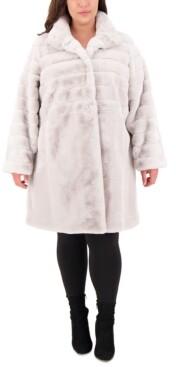 Jones New York Plus Size Faux-Fur Coat