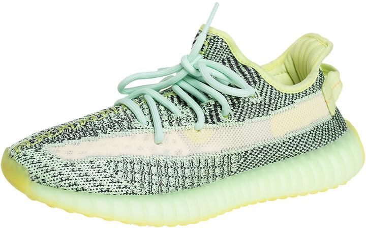 Yeezy x adidas Green Knit Fabric Boost 350 V2 Yeezreel Sneakers Size 40