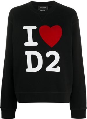 DSQUARED2 I Heart D2 print sweatshirt