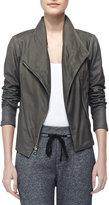 Vince Paper Asymmetric Leather Jacket