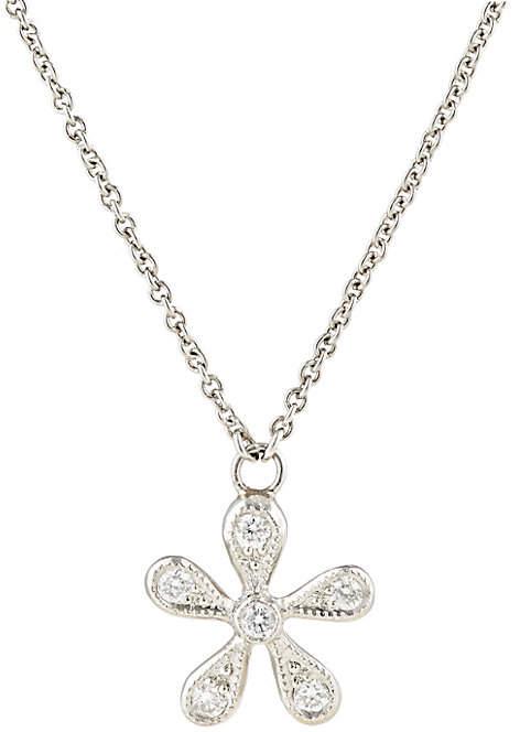Cathy Waterman Women's White Diamond & Platinum Daisy Pendant Necklace