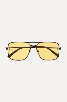 Stella McCartney Aviator-style Metal And Tortoiseshell Acetate Sunglasses - Yellow