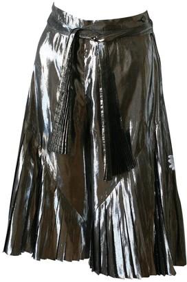 Christian Dior Silver Silk Shorts