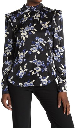 Veronica Beard Carleton Floral Silk Blend Blouse