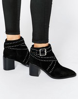Senso Haig II Black Suede Studded Ankle Boots