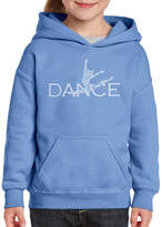 LOS ANGELES POP ART Los Angeles Pop Art Dancer Long Sleeve Girls WordArt Hoodie