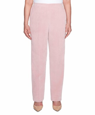Alfred Dunner Women's Petite Full Back Elastic Proportioned Short Pant