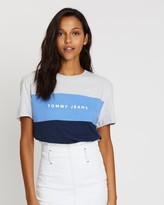 Tommy Jeans Stripe Logo Tee - Women's