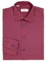 Eton Gingham Print Slim-Fit Shirt