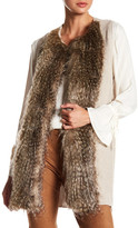Ella Moss Faux Fur Detail Knit Vest