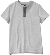 Crazy 8 Cozy Heather Gray Henley - Boys