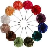 Landisun Handmade Men's Flower Lapel Pin Boutonniere for Suits