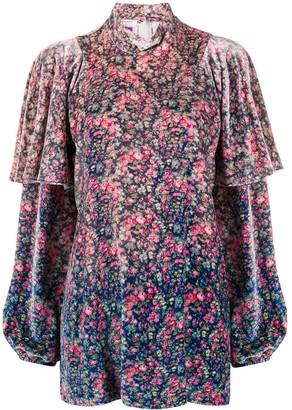 Philosophy di Lorenzo Serafini Floral Print Silk-Blend Top