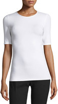 Joseph Half-Sleeve Stretch Jersey Tee, White
