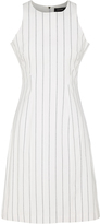 Oxford Austin Pinstripe Dress Wht X