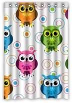"wantsky Cute Owl Babies Custom Waterproof Fabric Shower Curtain(Rideau de douche)Size 48""x 72"""