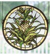 Tiffany & Co. Meyda 48550 16 Inch X 16 Inch Welcome Pineapple Window