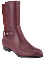 Isaac Mizrahi Live! Gored Leather Mid Shaft Boots