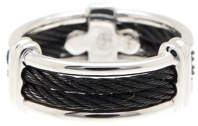 Alor 18K White Gold Stainless Steel Ring