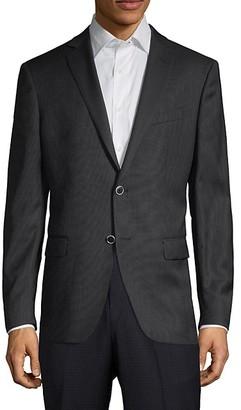 John Varvatos Notch-Lapel Modern-Fit Wool Sportcoat